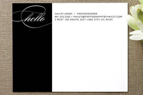 Bold Contact Business Stationery Cards