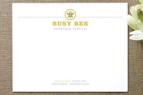 Busy Bee Business Stationery Cards
