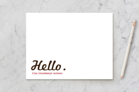 Call Me Business Stationery Cards