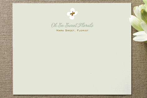 Dainty Flowers Business Stationery Cards