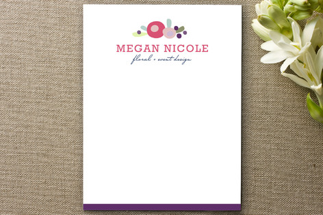 Megan Floral Business Stationery Cards
