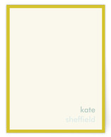Mustard Stripe Business Stationery Cards