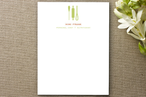 Personal Chef Business Stationery Cards