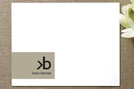 Monogram Logo Business Stationery Cards