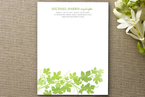 Watercolor Vineyard Business Stationery Cards