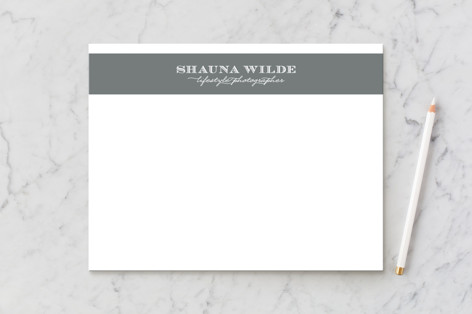 Shauna Stripe Business Stationery Cards