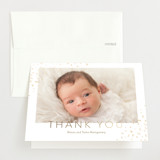 Foil-Pressed Birth Announcement Thank You Cards