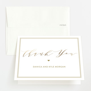 Flair Foil-Pressed Birth Announcement Thank You Cards