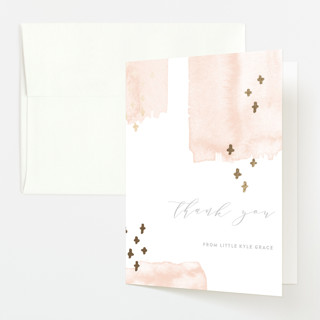 Tiny Love Foil-Pressed Birth Announcement Thank You Cards
