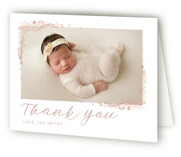 Delicate Collage Foil-Pressed Birth Announcement Thank You Cards
