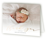Treasured Foil-Pressed Birth Announcement Thank You Cards