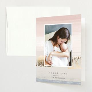 Dawn Hues Foil-Pressed Birth Announcement Thank You Cards
