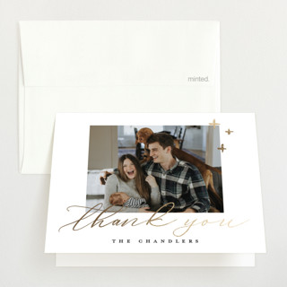 Welcome Our Little One Foil-Pressed Birth Announcement Thank You Cards