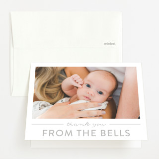 tranquil Birth Announcements Thank You Cards