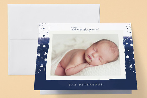 Stars and Lullabies Birth Announcements Thank You Cards