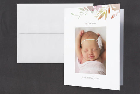 Pretty Birth Announcements Thank You Cards