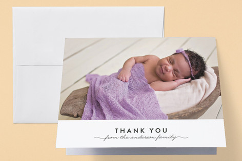 Simple & Sweet Birth Announcements Thank You Cards