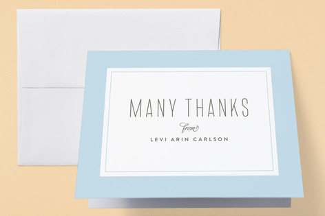 Type Type Baby Birth Announcements Thank You Cards