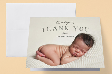 Organic Newborn Birth Announcements Thank You Cards