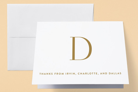 Initial Intro Birth Announcements Thank You Cards