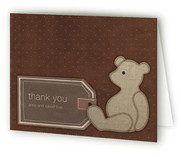 Bear Book Birth Announcements Thank You Cards