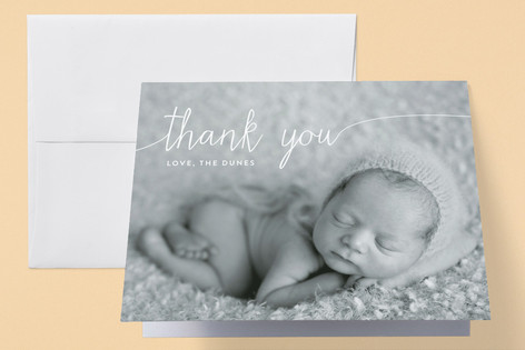 Big Introduction Birth Announcements Thank You Cards