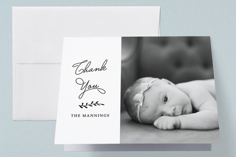 Signed Birth Announcements Thank You Cards