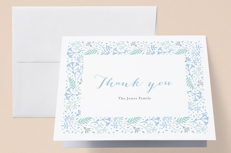 Floral Love Birth Announcements Thank You Cards