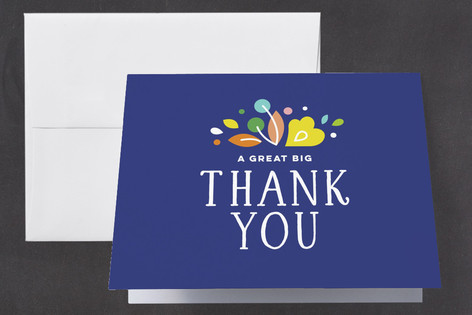 Mod Flora Birth Announcements Thank You Cards