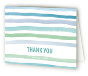 watercolor stripes Birth Announcements Thank You Cards