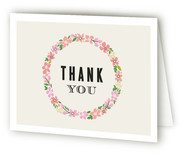 Sweet Wreath Birth Announcements Thank You Cards