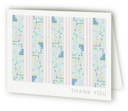 Twin Art Birth Announcements Thank You Cards