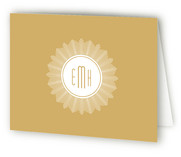 Sunburst Monogram Birth Announcements Thank You Cards
