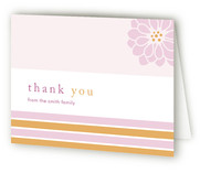 Preppy Flower Birth Announcements Thank You Cards