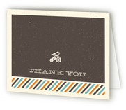 Retro Tricycle Birth Announcements Thank You Cards