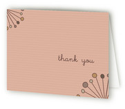 Deco Sunburst Birth Announcements Thank You Cards