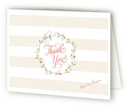 Pixie Wreath Birth Announcements Thank You Cards