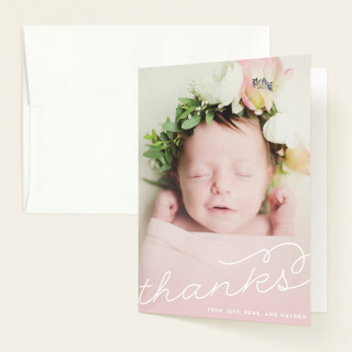 Glowing Birth Announcements Thank You Cards