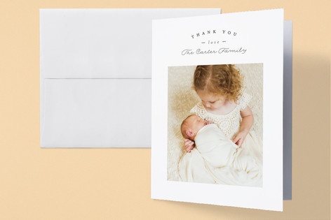 Sweet Welcoming Birth Announcements Thank You Cards