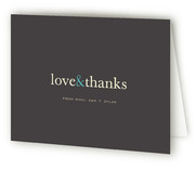 Pop of Color Birth Announcements Thank You Cards