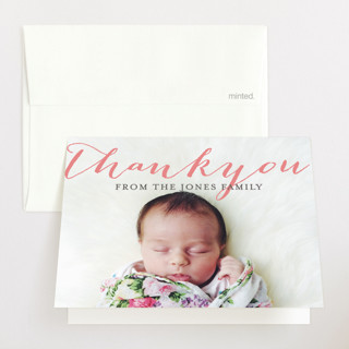 Welcoming Birth Announcements Thank You Cards