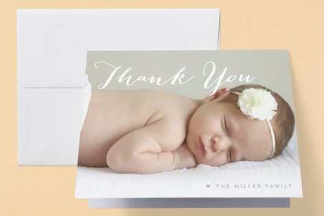 My Name Birth Announcements Thank You Cards