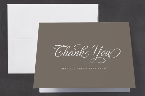 Scripted Baby Birth Announcements Thank You Cards