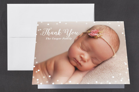 Glimmer Birth Announcements Thank You Cards
