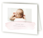 Soft Stroke Birth Announcements Thank You Cards