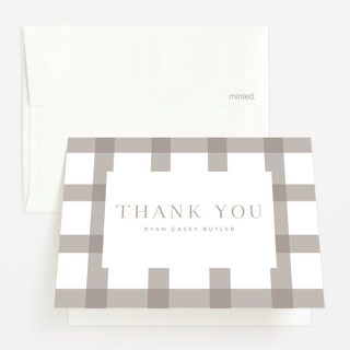 Pure and Simple Birth Announcements Thank You Cards
