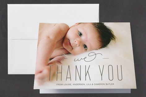 All Ours Birth Announcements Thank You Cards