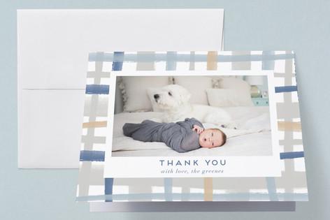 Rad Plaid Birth Announcements Thank You Cards