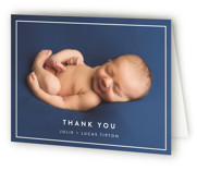 Modern Frame Birth Announcements Thank You Cards