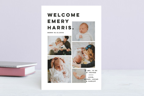 Bold Grid. Birth Announcements